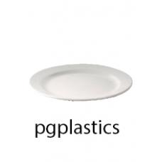 PLASTIC BORD 17cm (PC) Onbreekbaar Roltex - 100 st/ds