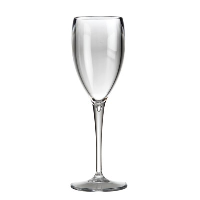 12x Transparante Plastic Champagneglazen 17cl