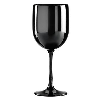 12x Zwarte Plastic Wijnglazen 48cl Onbreekbaar Tropic