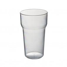 105x Plastic Bierglazen 28cl Onbreekbaar