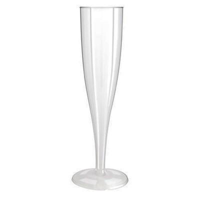 100 x Plastic Champagneglazen 1-Delig 0.1L (PS)
