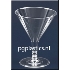 PLASTIC COCKTAILGLAS 2-Delig 0.1L (PS) Tradition - 480 st/ds