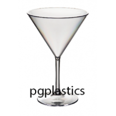 PLASTIC COCKTAILGLAS - MARTINIGLAS 27.5cl (PC) Onbreekbaar - 40 st/ds