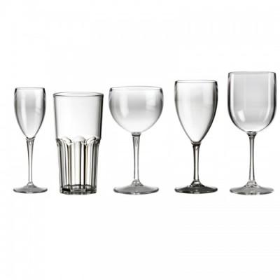 Super Voordeelset - Assortiment van 20 kunststof Glazen Glashelder