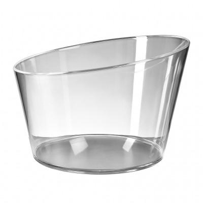 1x Plastic Ijsemmer Large Glashelder