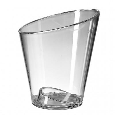 1x Plastic Ijsemmer Single Glashelder