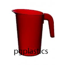 PLASTIC KARAF / PITCHER 0.5L ROOD (PC) Onbreekbaar FROST - 40 st/ds