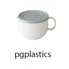 PLASTIC KOFFIEKOP 27.5cl en Deksel (PC) Onbreekbaar - 44 st/ds