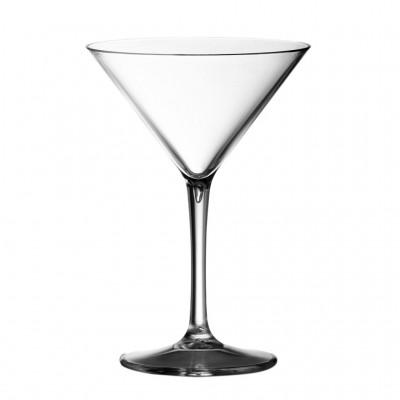 24x Plastic Martiniglas 23cl (PC) Onbreekbaar
