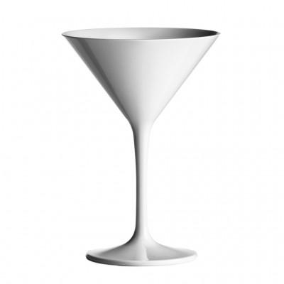 12x Plastic Martiniglas Wit 23cl (PC) Onbreekbaar
