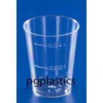 2000 x PLASTIC SHOTGLAZEN / BORRELGLAASJES 0.05L (PS)