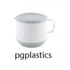 PLASTIC THERMO KOFFIEKOP 25cl, en DEKSEL (PC) Onbreekbaar - 12 st/ds