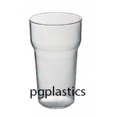 105 x Plastic Bierglas 28cl (PC) Onbreekbaar