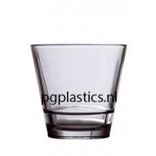PLASTIC WHISKYGLAS 255ml (PC) Onbreekbaar Privilege Roltex - 50 st/ds