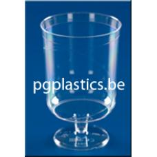 240 x Plastic Wijnglas 1-Delig 0.15L