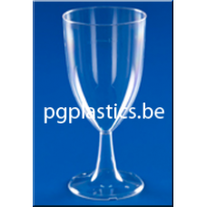 Plastic Wijnglas 1-Delig 0.20L (PS) LUXE Vaste Voet - 120 st/ds