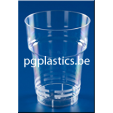 PLASTIC BIERBEKER DUTCH 250 ml (PS)  - 805st/ds