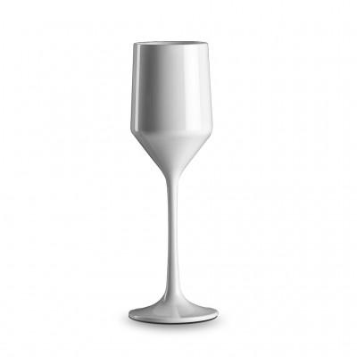 4x Witte Plastic Champagneglazen 17cl Litore - Onbreekbaar